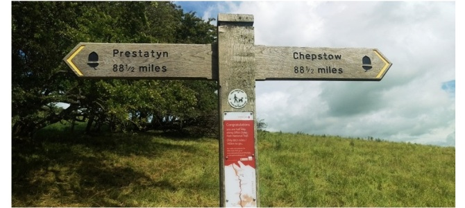 Offa's Dyke Footpath is 182 miles long