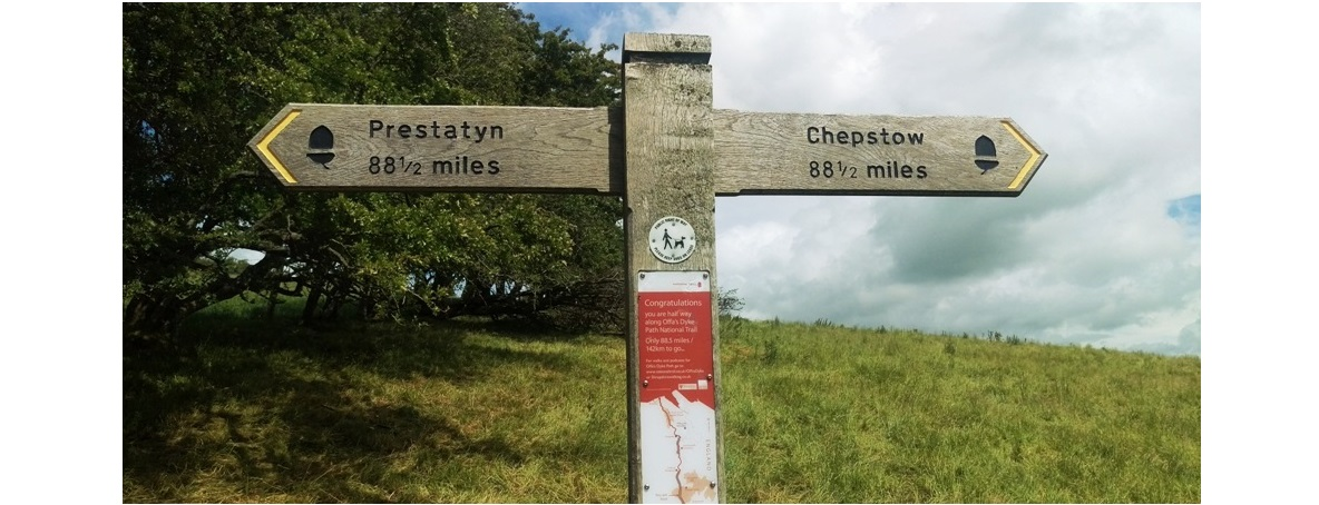 Offa's Dyke Footpath is 182 miles long