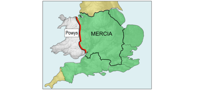 It became the England/Wales border
